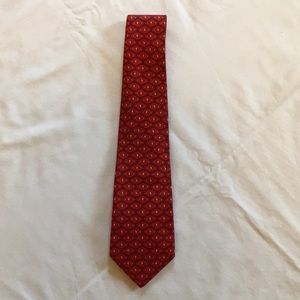 Salvatore Ferragamo Silk Tie, Red